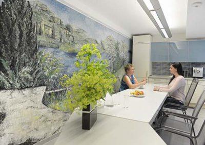 Küche und Mittagsraum für alle Mitarbeiter